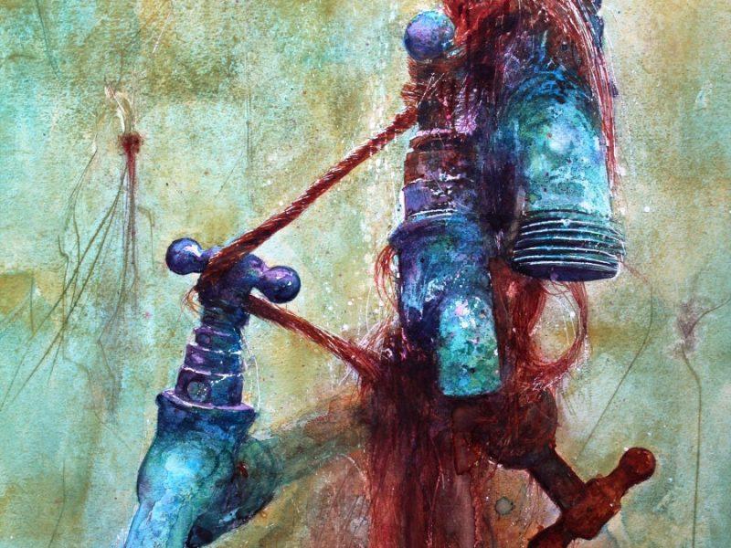 Tap Dancers, Watercolour by David Poxon