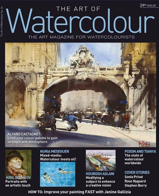 Art of Watercolour Magazine Interview with David Poxon