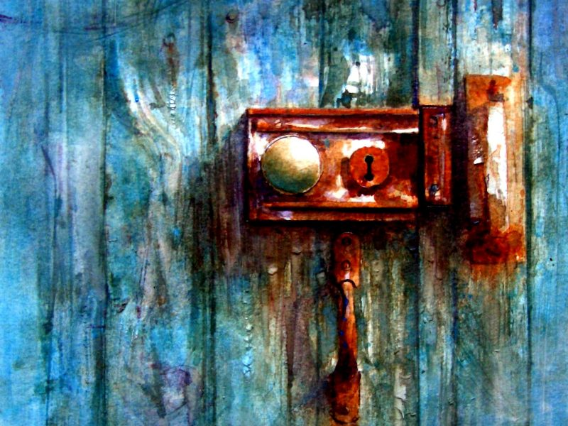 BlueDoor Watercolour by David Poxon