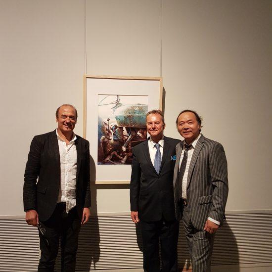 Alvaro, David, Liu, Shanghai Art Museum Masters Exposition.