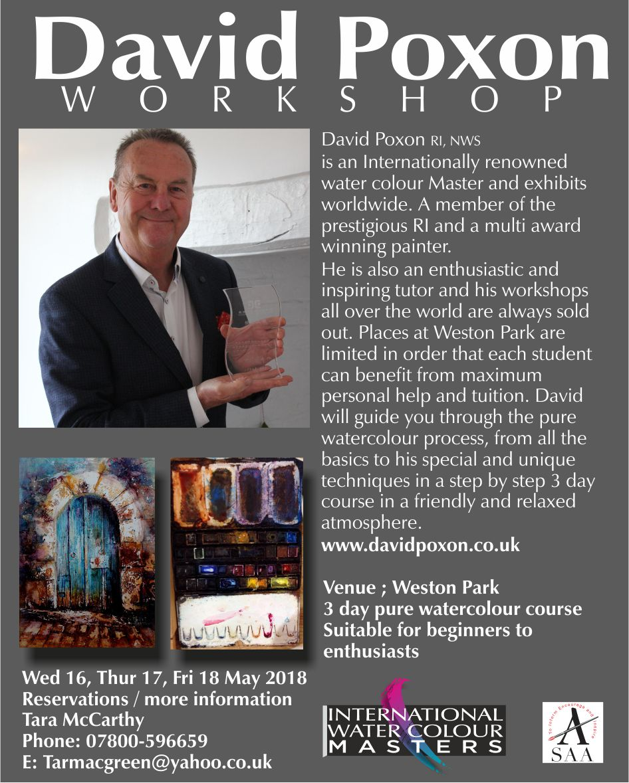 David Poxon Workshop @Weston Park 2018