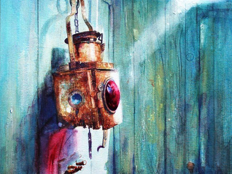 THE LIGHT INSIDE YOU Watercolour by David Poxon