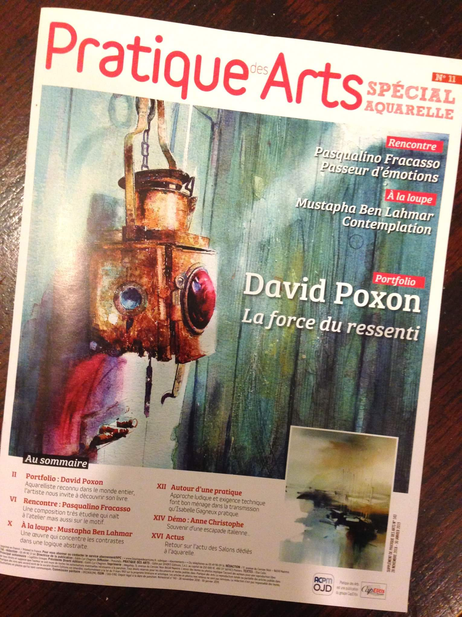 David Poxon on Praqtique Arts France Front Cover