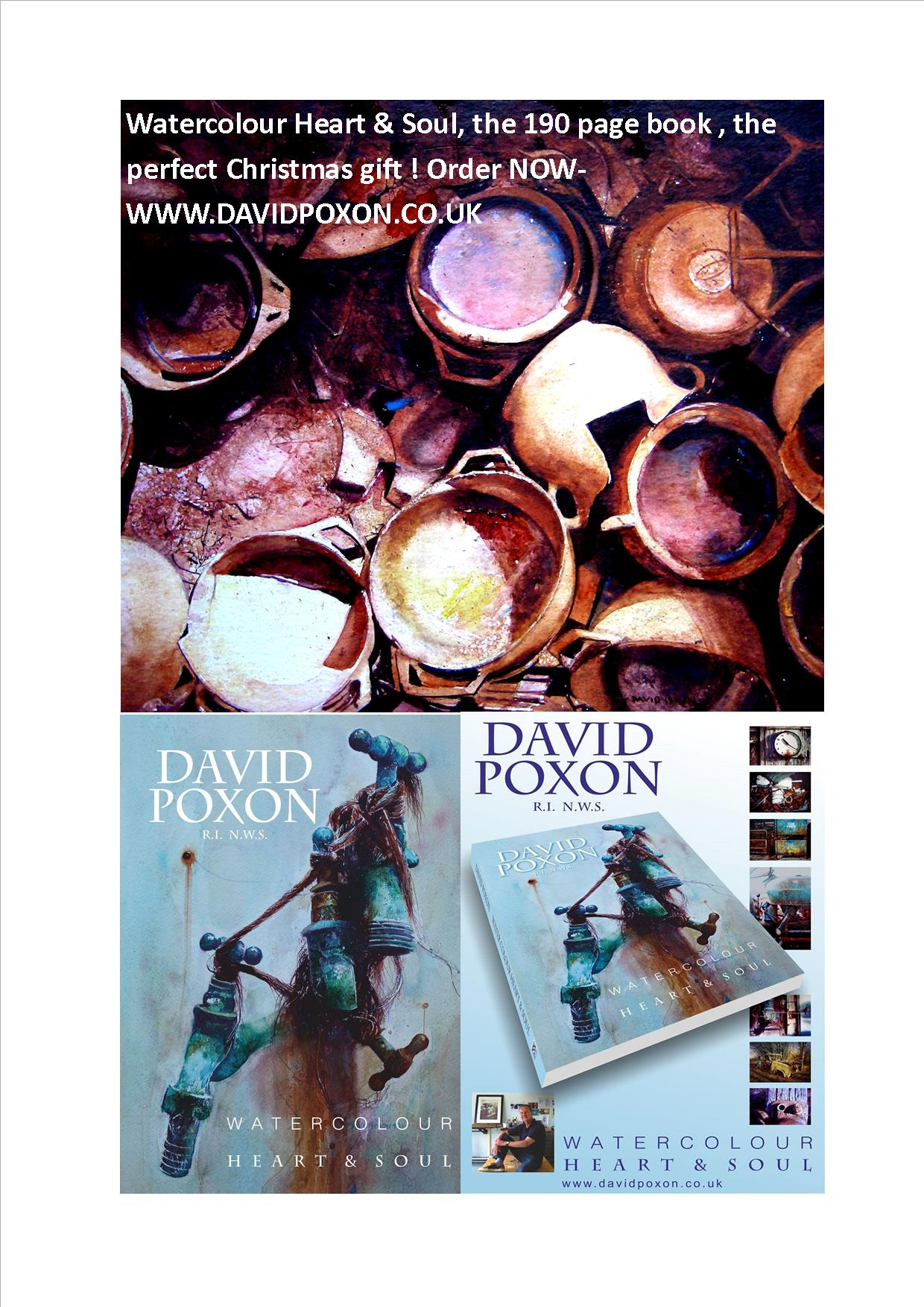 Watercolour Book, Heart and Soul by David Poxon