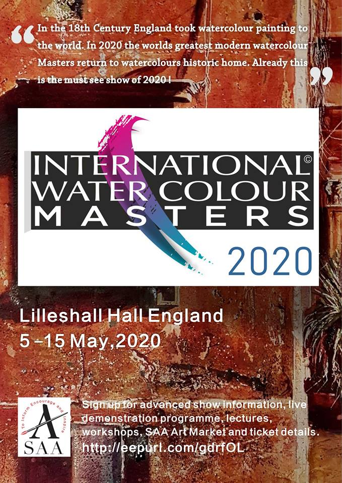 DAVID POXON IWM POSTER, International Watercolour Masters 2020