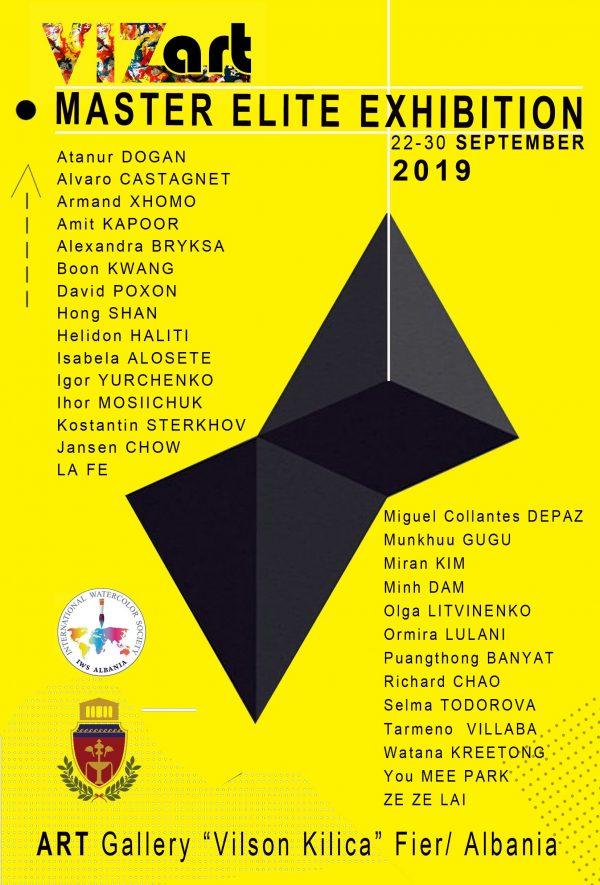 VizArt Master Elite Exhibition Poster
