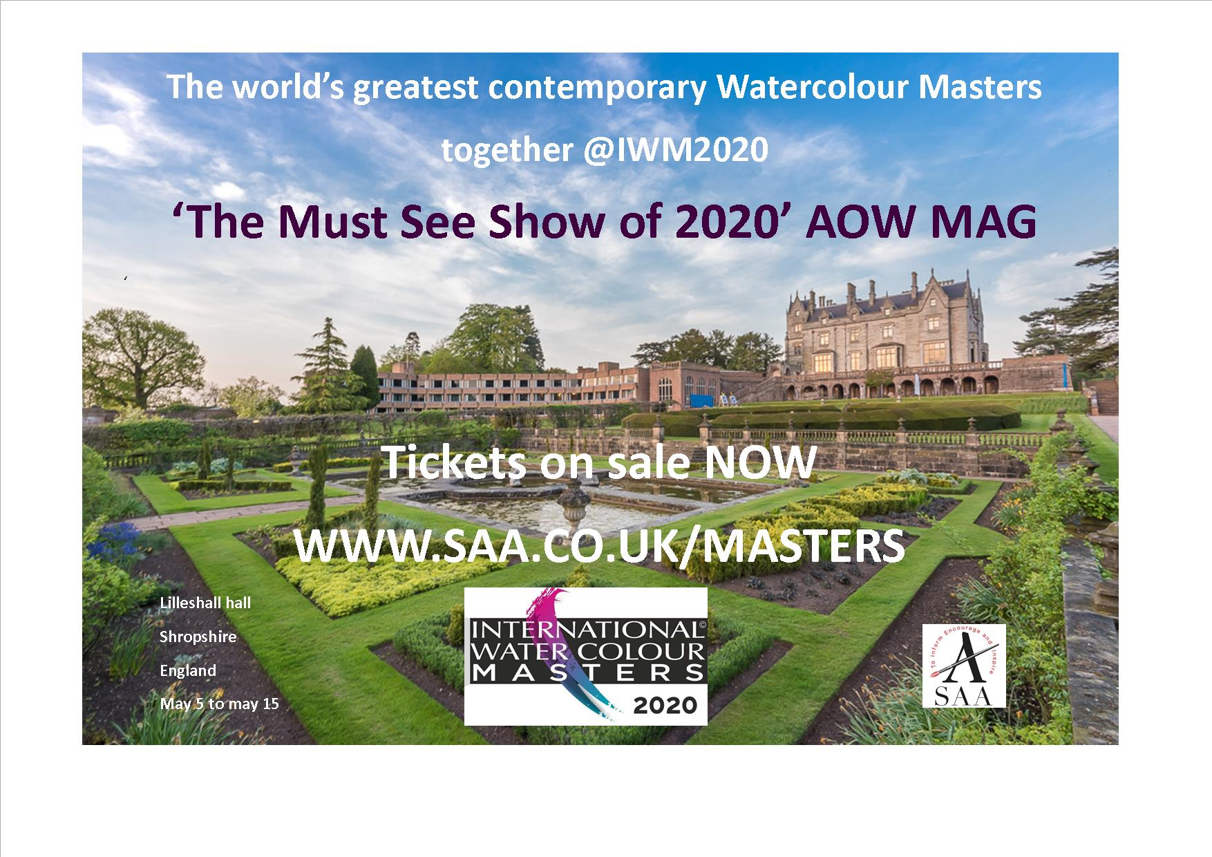 #iwm2020 Internatiuonal Watercolour Masters. Watercolor Masters come to England. The must see art exhibition of 2020.