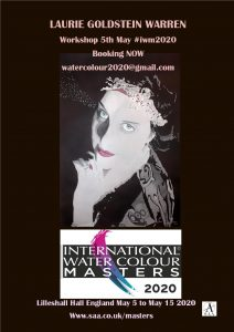 Laurie Goldstein Warren workshop at #iwm2020. Laurie Goldstein first appearance at the prestigious International Watercolour Masters exhibition at Lilleshall Hall England May 5 to May 15 2020.