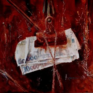 David Poxon International Watercolour Master. Pure watercolour painting 'the colour of money' released in a limited edition of 100.