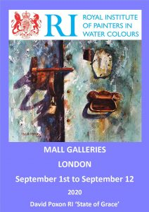 RI, Royal Institute David Poxon RI at Mall Galleries London