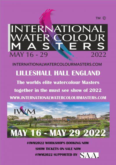 iwm, iwm2021, iwm2022, International watercolour masters, masters, lilleshall, exhibition, poxon, alvaro, fabio, watercolour stars at iwm2022